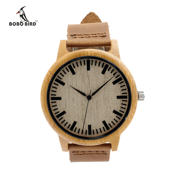 Bobo Bird Casual Bamboo Relogio Masculino Wood Watch - TheMillenialMale.com