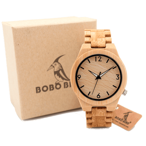 BOBO BIRD Mr.Casual Bamboo Watch - TheMillenialMale.com