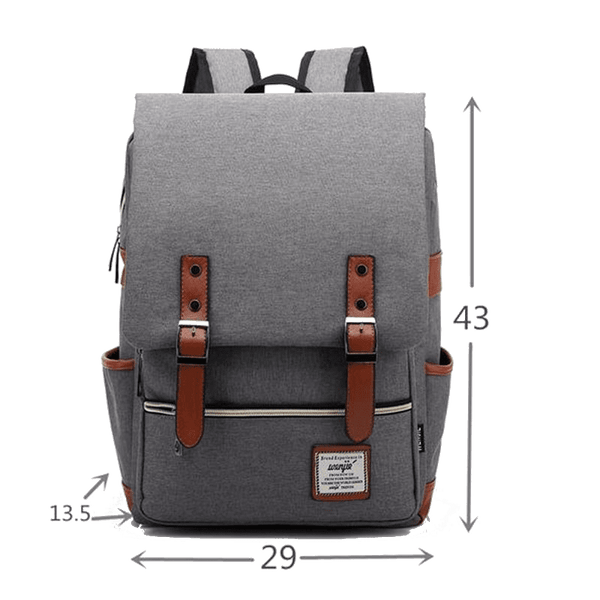 TMM Casual Canvas Backpack for Laptop - TheMillenialMale.com