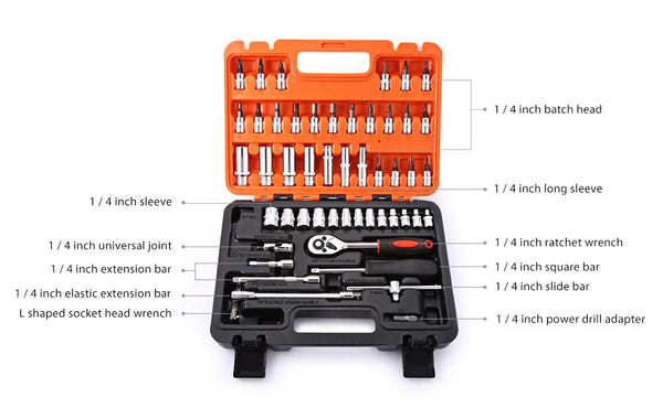 TMM  53 PIECE HOME TOOL KIT (TOOLBOX INCLUDED)