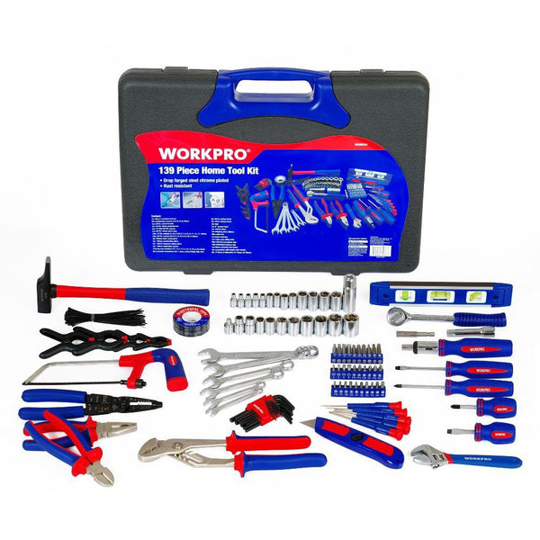 TMM PRO 139 PIECE HOME TOOL KIT (TOOLBOX INCLUDED)