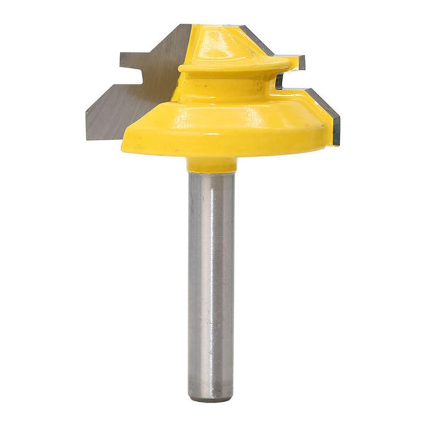 "TMM Lock Miter 2"" Diameter 1/4'' Carbon Steel Shank 45 Degree Joint Router Bits Woodworking Cutter Tool - TheMillenialMale.com"
