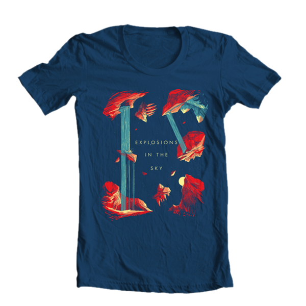EXPLOSIONS IN THE SKY 'WATERFALL' NAVY TEE