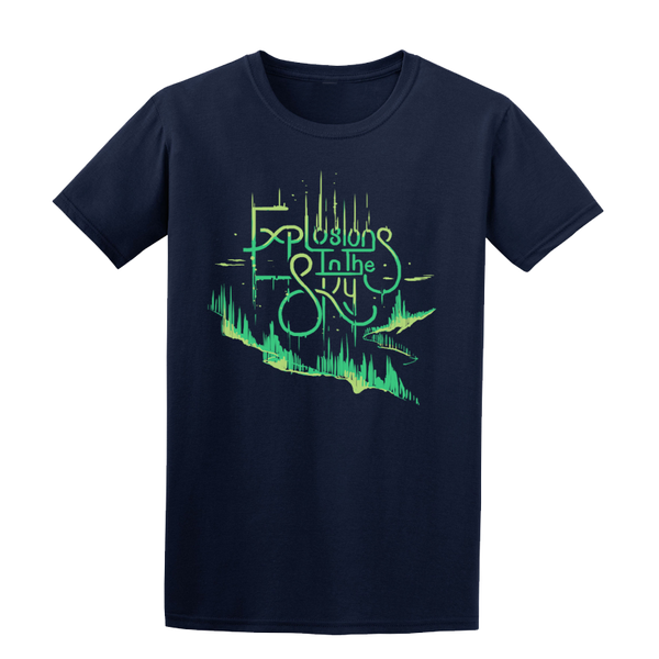 EXPLOSIONS IN THE SKY 'NORTHERN LIGHTS' NAVY BLUE TEE