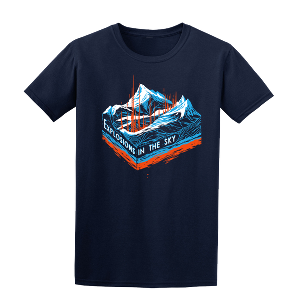 EXPLOSIONS IN THE SKY 'MOUNTAINS' NAVY TEE