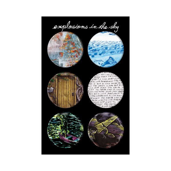 EXPLOSIONS IN THE SKY ALBUM COVER BUTTON SET