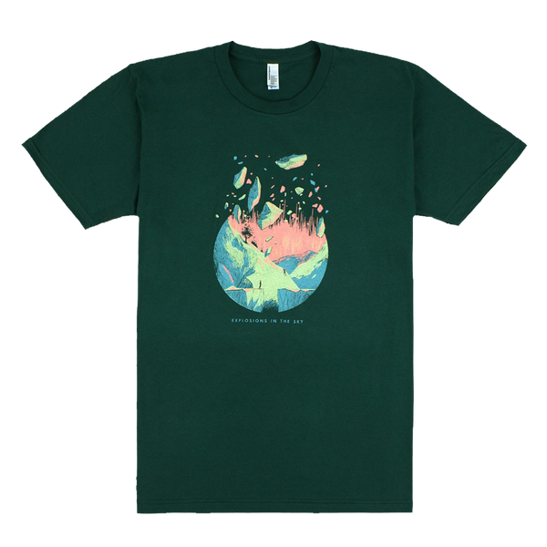 EXPLOSIONS IN THE SKY DISSOLVE FOREST GREEN TEE