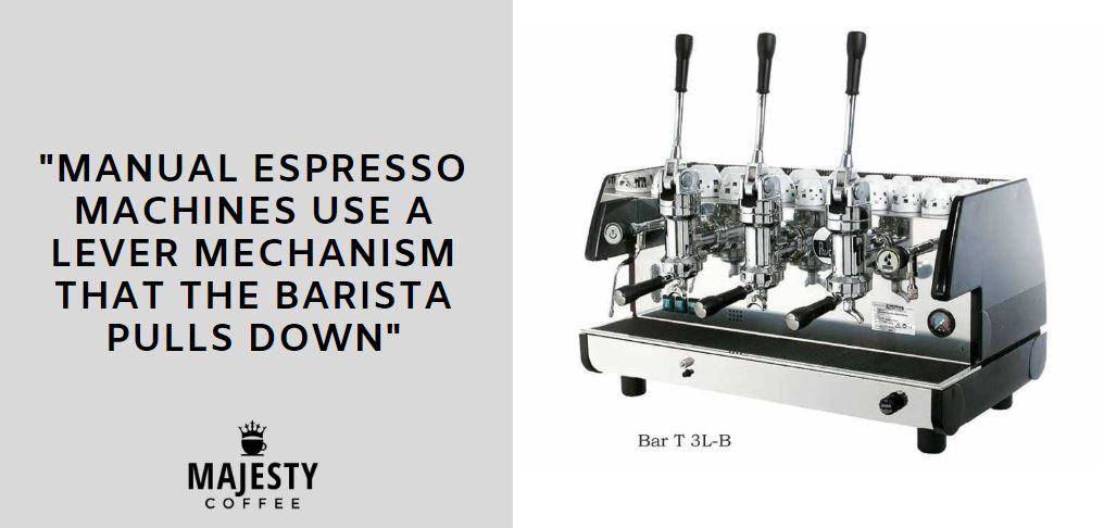 manual espresso machine commercial tip