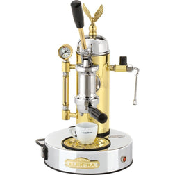 Elektra Micro Casa Model Chrome and Brass Espresso Machine ART.S1CO - Majesty Coffee
