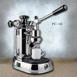 La Pavoni Professional Chrome Espresso Machine PC-16 - Majesty Coffee