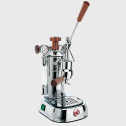 La Pavoni Professional Chrome with Wood PCW-16
