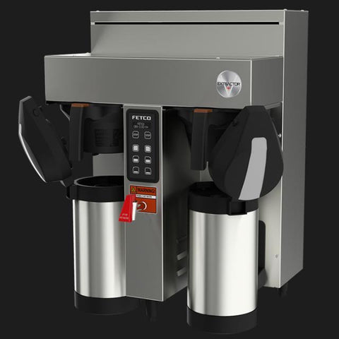 Fetco CBS-1132-V+ Twin Station Coffee Brewer 2x2.3 kW/200-240V E113252 - Majesty Coffee