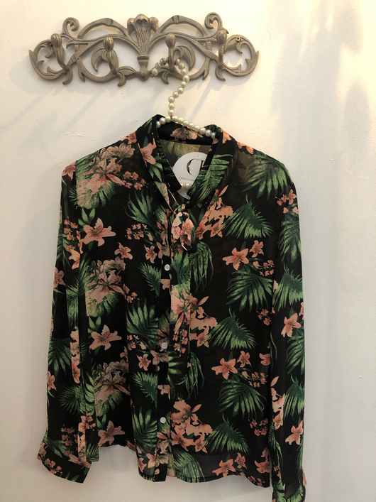Blouse | palm print