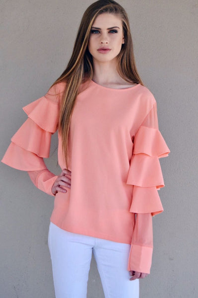 Blouse | ruffle Sleeved