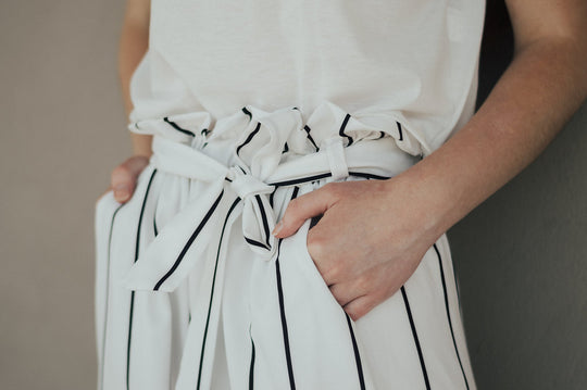 Pants | Striped monochrome