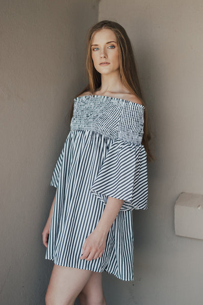 Dress | Striped Bell Sleeve