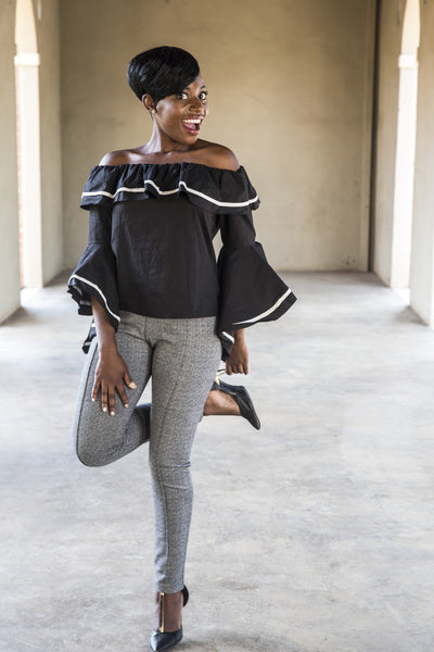 Blouse | Off-shoulder flair sleeve