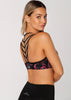 Electric Bloom Sports Bra