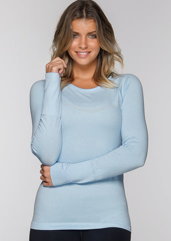 Charlie L/S Seamless Top (blue)