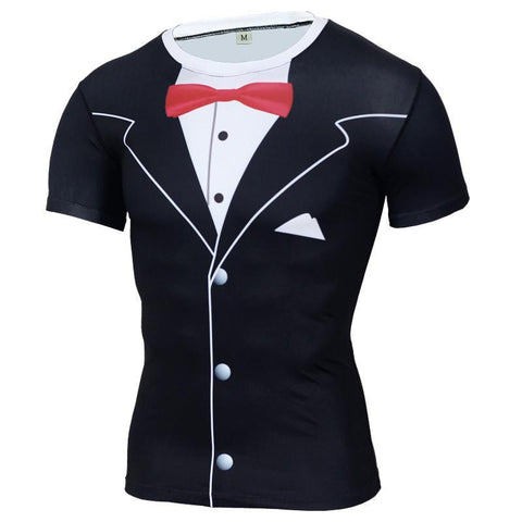 Tuxedo Compression Shirt - MMA P4P SHOP