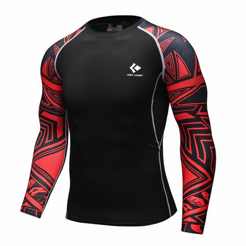 BJJ Rash Guard (Red Track)