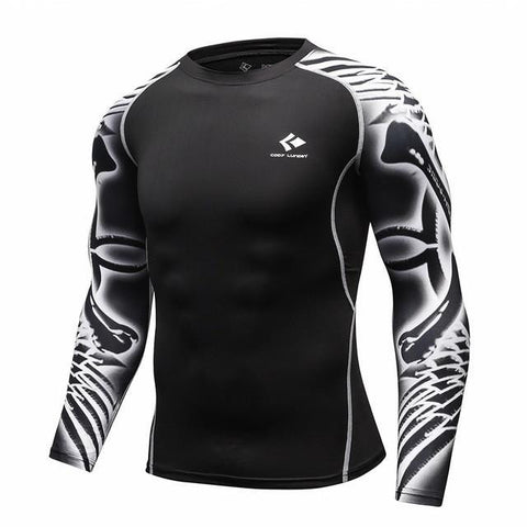 BJJ Rash Guard (Black Feather)