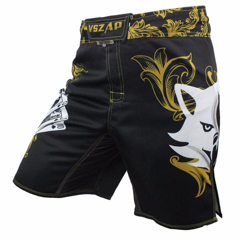 VSZ Golden Kickboxing & BJJ Shorts