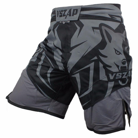 VSZ Grey Kickboxing & BJJ Shorts