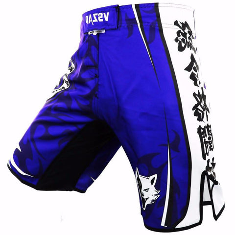 VSZ Blue White Kickboxing & BJJ Shorts