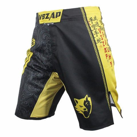 VSZ Yellow Kickboxing & BJJ Shorts