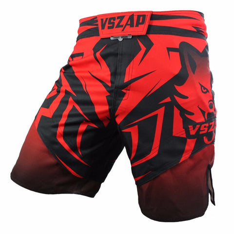 VSZ Red Black Kickboxing & BJJ Shorts