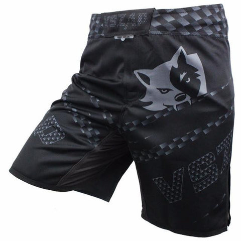 VSZ Black Grey Kickboxing & BJJ Shorts