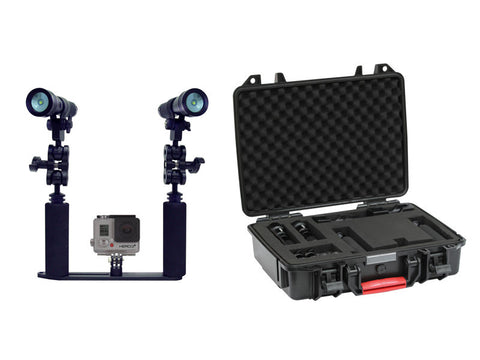 Bigblue Dive Lights Video Light & Tray Kit with Hard Case