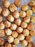 Gougères - Traditional french cheese choux bun