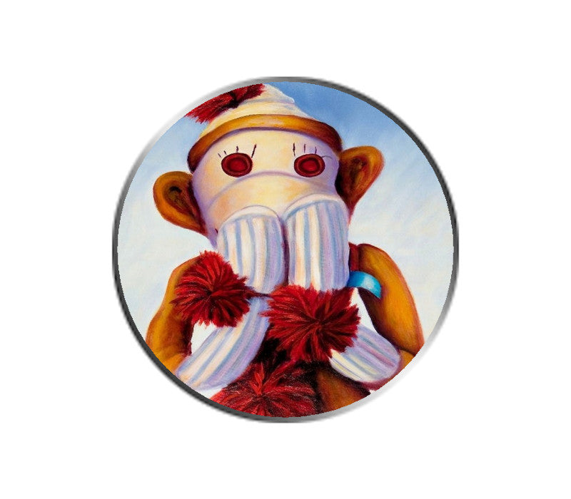 Sock Monkey - Speak No Evil - Ball Marker
