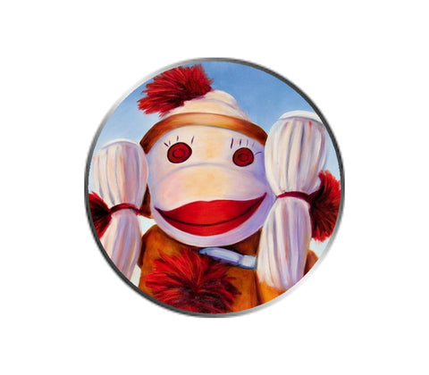 Sock Monkey - Hear No Evil - Ball Marker