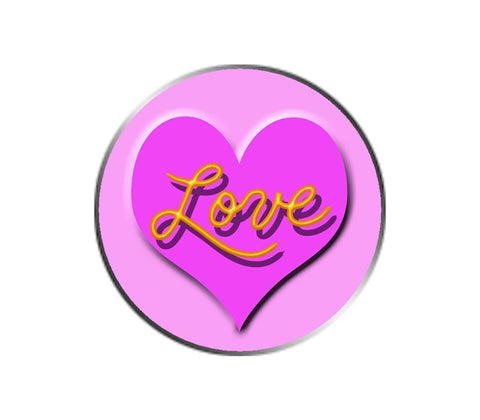 Love Ball Marker - Pink on Pink