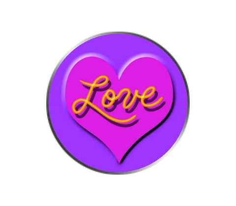 Love Ball Marker - Pink on Purple
