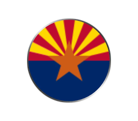 Arizona Ball Marker - State Flag