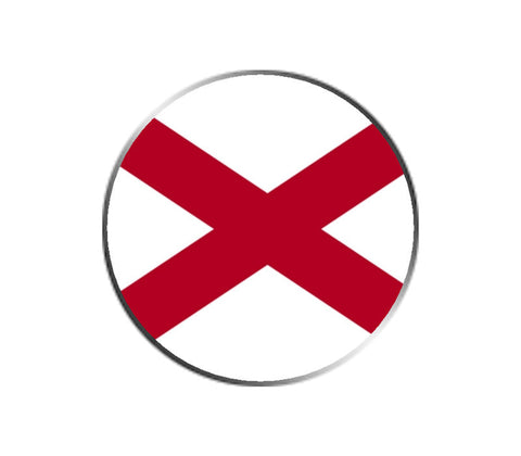 Alabama Ball Marker - State Flag