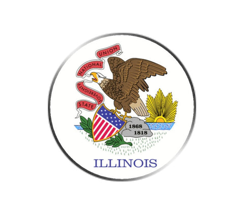 Illinois Ball Marker - State Flag