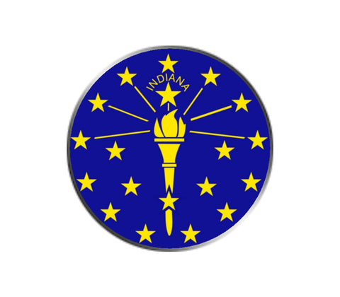 Indiana Ball Marker - State Flag
