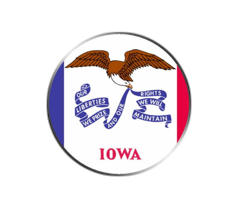 Iowa Ball Marker - State Flag