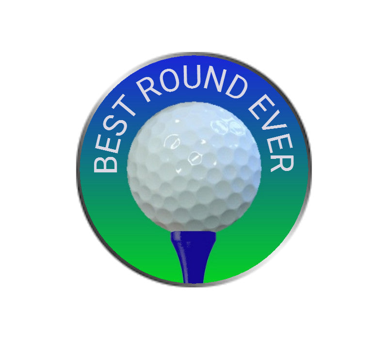 Best Round Ever Blank Ball Marker