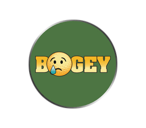 Bogey Golf Emoji Ball Marker