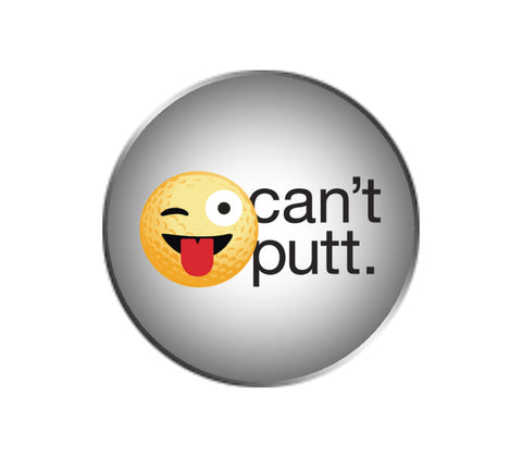 Can't Putt Emoji Ball Marker