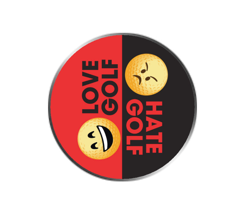 Love Golf / Hate Golf Emoji Ball Marker