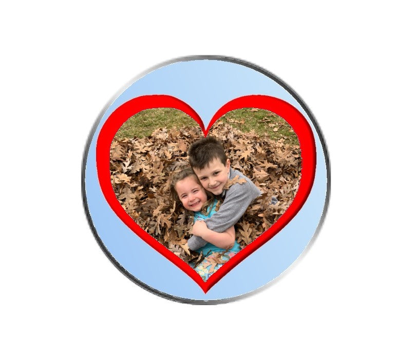 Mothers Day Heart Ball Marker
