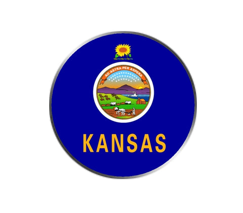 Kansas State Flag - Golf Ball Marker