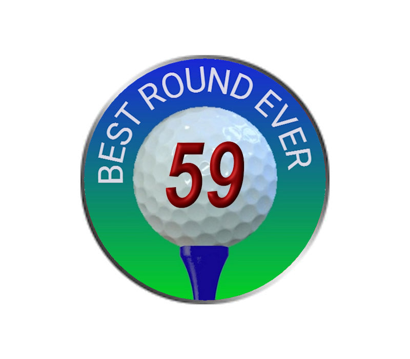 Best Golf Round Ever - Golf Ball Marker - 59